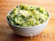 Рецепта Картофено пюре със зеле, зелен лук и сметана по ирландска рецепта